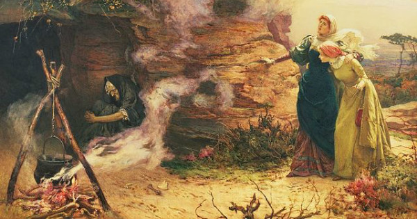 """A Visit to the Witch"" by Edward Frederick Brewtnall.  From WikiMedia."