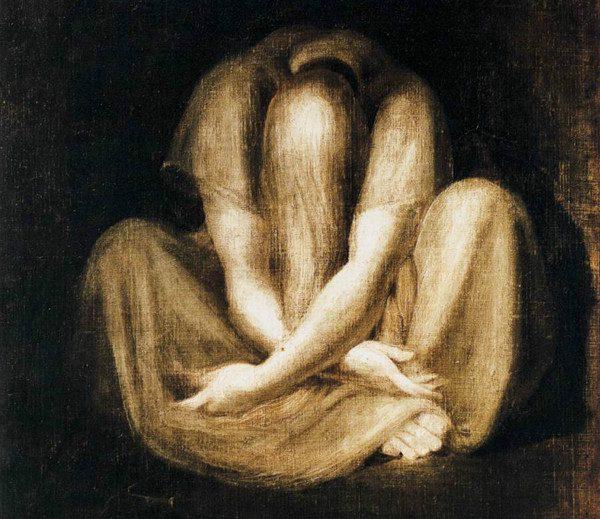 "Detail of ""Silence"" by Johann Heinrich Füssli. From Wikimedia."