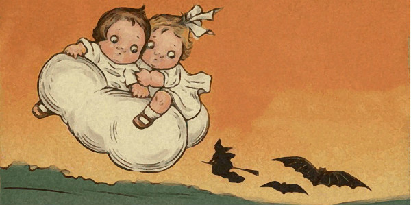 Early 20th Century Halloween Postcard.  Public Domain image.
