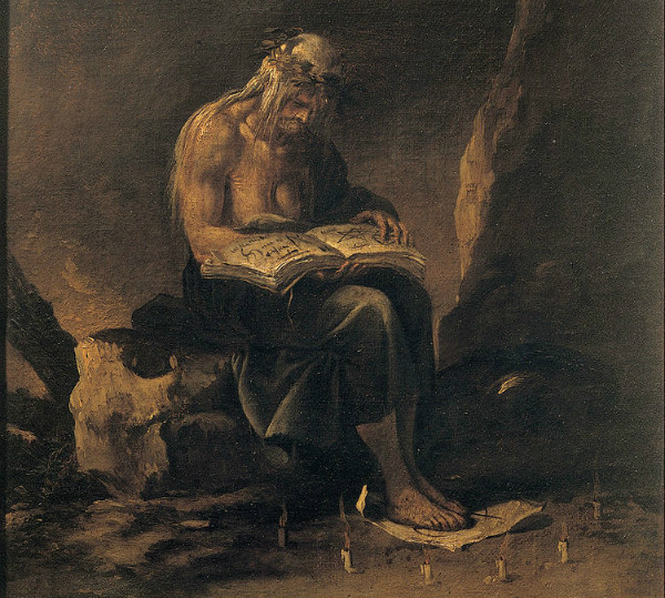 """""""A Witch"""" by Salvator Rosa."""