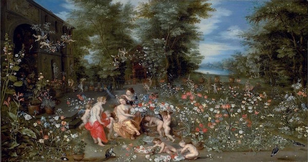 """Allegory of Spring"" by Jan Breughel II (and possibly others). From WikiMedia."