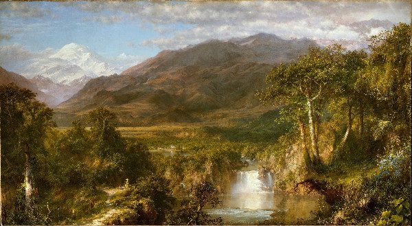"""""""Heart of the Andes"""" by Frederic Edwin Church, from WikiMedia."""