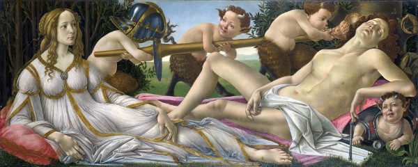 """""""Venus and Mars"""" by Sandro Botticelli.  From WikiMedia."""