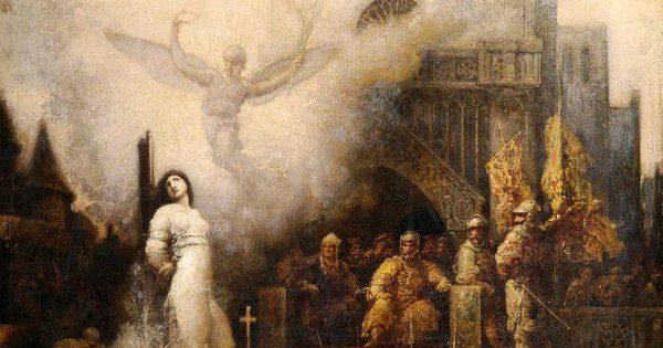 """Joan of Arc"" by François Chifflart.  From WikiMedia."