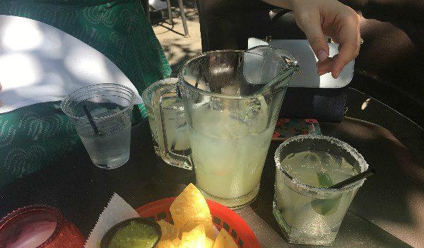 Outdoor margaritas are always fun!