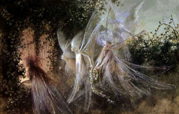 """""""Fairy Passage"""" by John Anster Fitzgerald from WikiMedia Commons."""