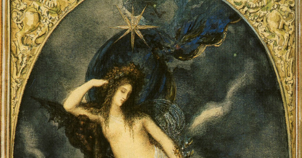 """Nyx, Night Goddess"" by  Gustave Moreau.  From WikiMedia."
