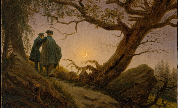 """Two Men Contemplating the Moon"" by Caspar David Friedrich, from WikiMedia."
