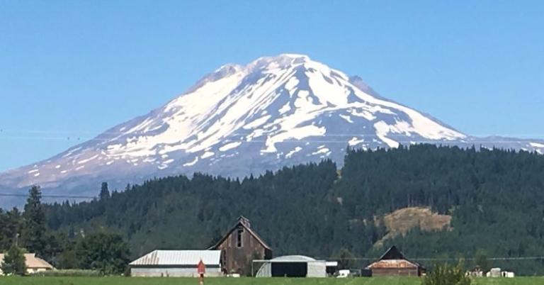 That's Mount Adams.