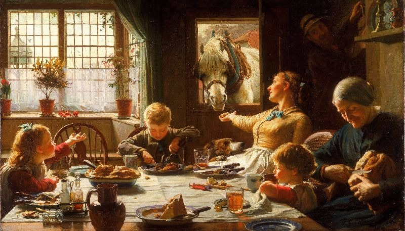"""""""One of the Family"""" by Frederick George Cotman."""