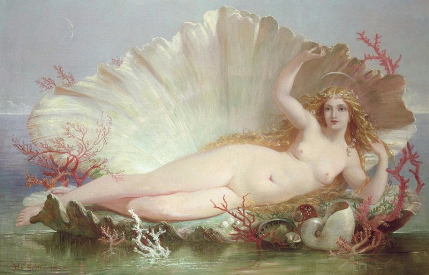 """The Birth of Venus"" by Henry Courtney Selous.  From WikiMedia."