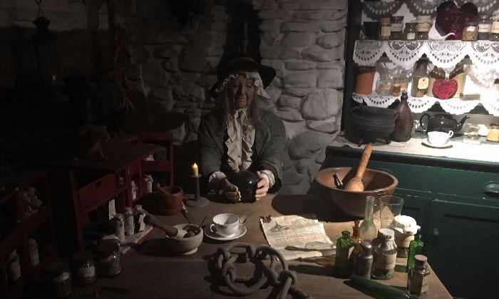 More from that Museum in Boscastle, I'll also admit that this is how I sometimes see Rachel Patterson who writes the wonderful blog, Beneath the Moon.  (Though I picture Rachel much younger.)