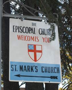 church episcopal welcomes flag dear rob bell road still there winding through
