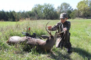 My son's first buck - 2014 - crossbow