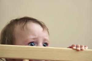fear in baby eyes