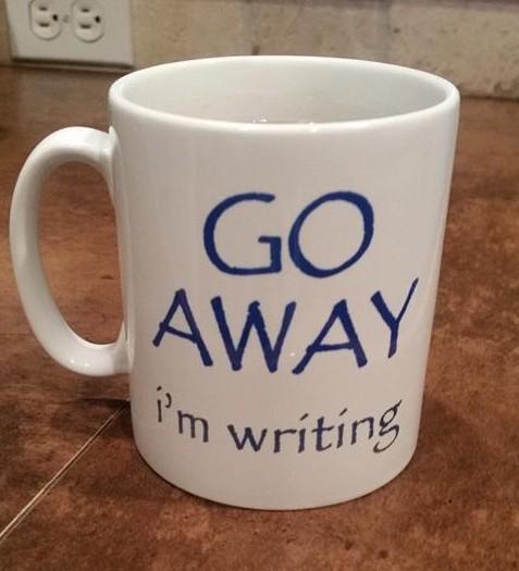 go away I'm writing
