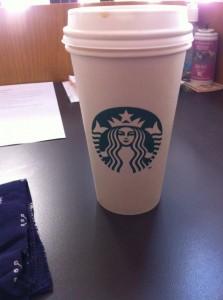 Frank's Starbucks cup