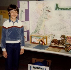 12-year-old Jeff with his 6th grade science project.