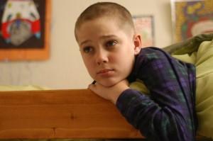 "Mason sports a new luck... begrudgingly... in ""Boyhood."""