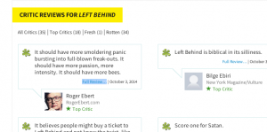 Roger Ebert reviews Left Behind