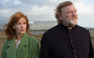 """From left, Kelly Reilly and Brendan Glesson in """"Calvary"""" (Photos by Fox Searchlight Pictures)"""