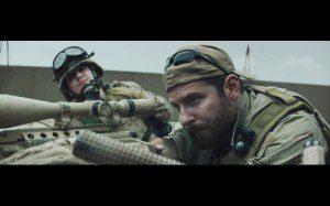 """Kyle Gallner, left, and Bradley Cooper in """"American Sniper"""" (CNS/Warner Bros.)"""