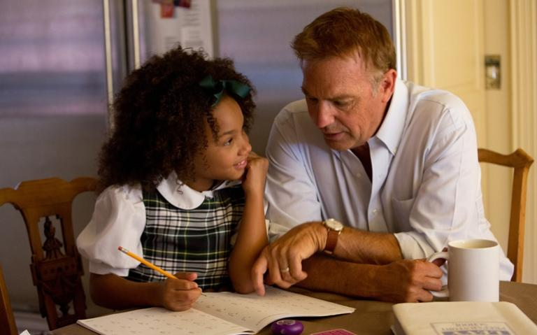 """Kevin Costner and Jillian Estell in """"Black or White"""" (CNS/Relativity)"""
