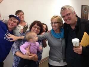 The actor Michael Harney (Orange is the New Black) on the right with members of my family at the book signing. Obviously, a good time was had by all!