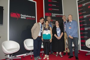 The SIGNIS jury, from left: Sergio Perugini, Maria José Martinez, Massimo Giraldi, Rose Pacatte, Freddy Sartor, Jorge Yglesias