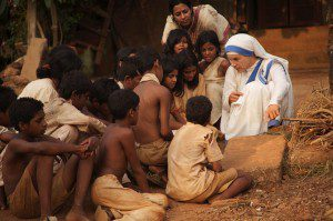 One of the first things M Teresa did when she began the Missionaries of Charity was to teach the children of the slums to read. Photo courtesy of thelettersfilm.com