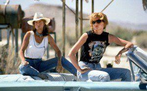"Susan Sarandon, left, and Geena Davis in ""Thelma & Louise"" (1991; MGM)"