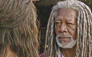 "Jack Huston and Morgan Freeman in ""Ben-Hur"" (Paramount Pictures/Philippe Antonello)"