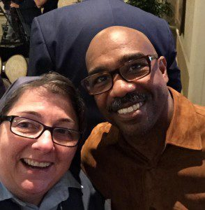 """With Michael Beach who plays Gov. Patrick Duval in """"Patriot's Day"""""""