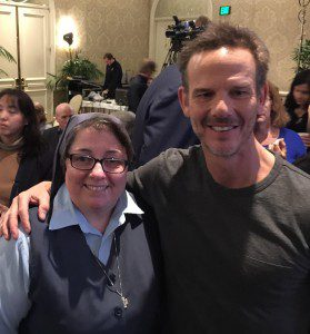 With director Peter Berg.