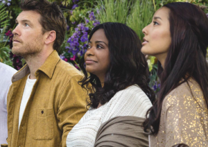Sam Worthington, Oscar winner Octavia Spencer, and Sumire Matsubara star in the adaptation of The Shack. (Photo by Jake Giles Netter/Lionsgate)