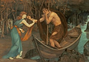 """Charon and Psyche,"" by John Roddam Spencer Stanhope."
