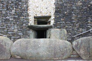 Newgrange - the entrance kerbstone