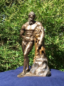 Herakles - a modern copy of a Roman copy of a 2300 year old Greek statue - deep