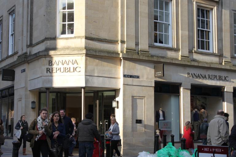 Cheap Street, Bath, England - oh, the irony!