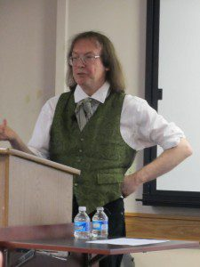 Ronald Hutton at the Sacred Lands and Spiritual Landscapes conference in 2013