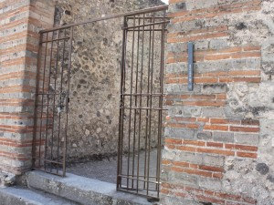 Gates to the Temple of Isis - Pompeii