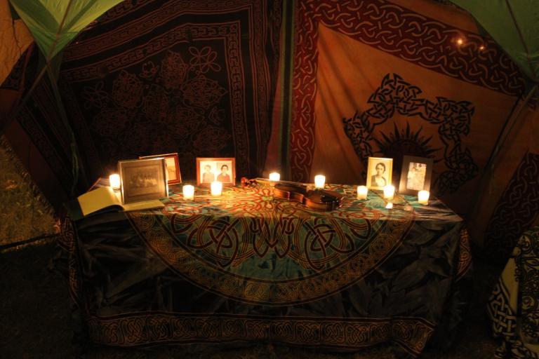our shrine to the ancestors