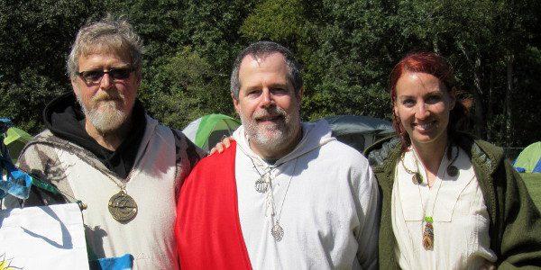 James Bianchi, John Beckett, and Kimberly Kirner at the 2012 OBOD East Coast Gathering