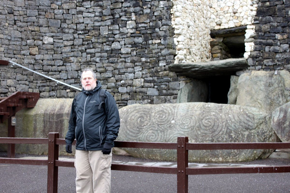 at Brú na Bóinne - Newgrange - in Ireland, 2014