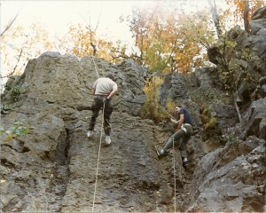 That's me on the left, in 1987.  There are two ways to do this:  the right way and the dead way.