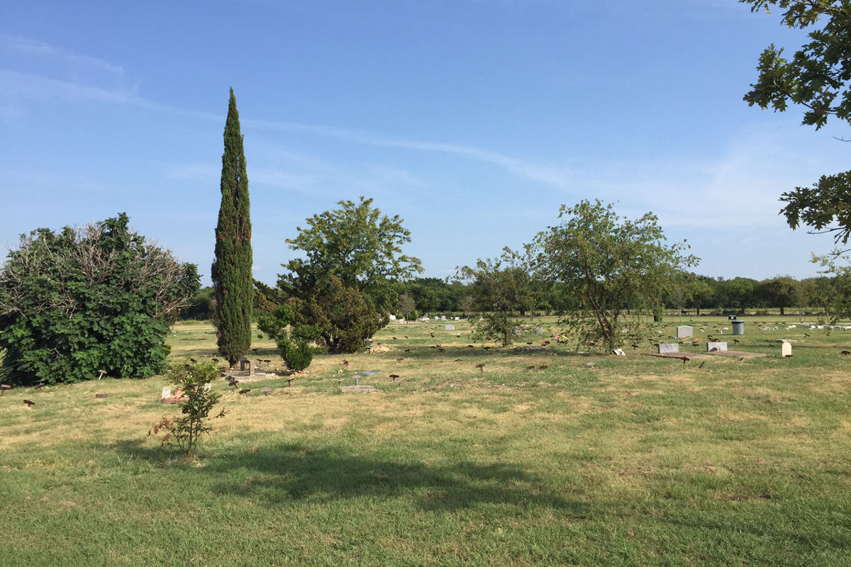 Muslim Cemetery - Denton Texas.  Thanks to Debbie Griffin for the photo