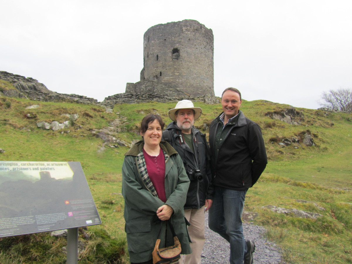 with Cyn Qoaad (Denton CUUPS) and Kristoffer Hughes (OBOD) in Wales - 2014