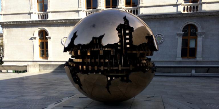 Sphere Within Sphere by Arnaldo Pomodoro – Trinity College – Dublin