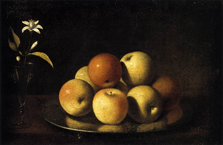 Juan_de_Zurbarán_-_Still-Life_with_Plate_of_Apples_and_Orange_Blossom_-_WGA26082
