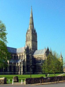Salisbury Cathedral. Construction began in 1220.